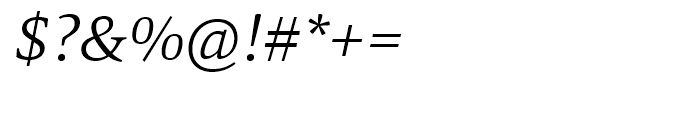 Mangan Light Italic Font OTHER CHARS