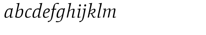 Mangan Light Italic Font LOWERCASE