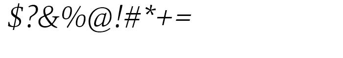 Mangan Nova ExtraLight Italic Font OTHER CHARS