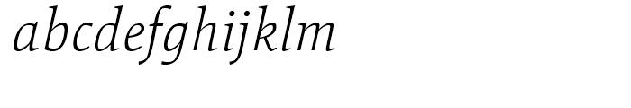 Mangan Nova ExtraLight Italic Font LOWERCASE