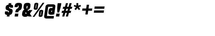 Maqui Black Italic Font OTHER CHARS