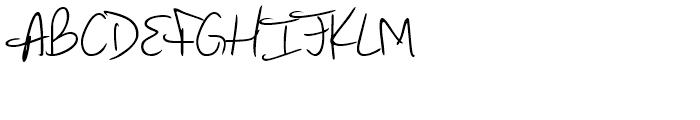 Marcello Handwriting Regular Font UPPERCASE
