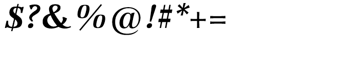 Marconi Semi Bold Italic Font OTHER CHARS