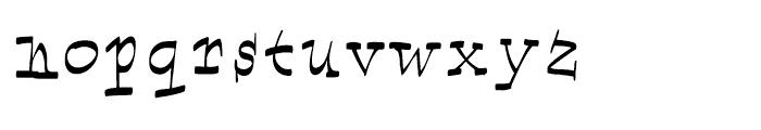 Marcus Texus Font LOWERCASE