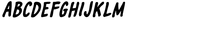 Marian Churchland Bold Italic Font LOWERCASE