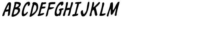Marian Churchland Italic Intl Font UPPERCASE
