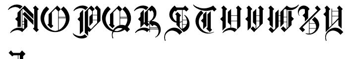 Marr Gothic Regular Font UPPERCASE