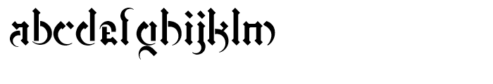 Marr Gothic Regular Font LOWERCASE