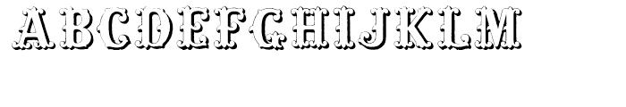 Massel Three Regular Font UPPERCASE