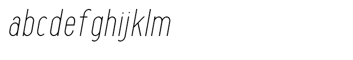 Maxwell Sans Light Italic Font LOWERCASE