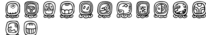 Maya Day Names Day Names Font LOWERCASE