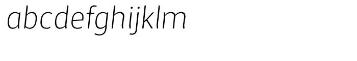 Maya Samuels Extra Light Italic Font LOWERCASE