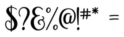 Magellan Regular Font OTHER CHARS
