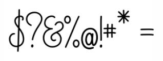 Magellan Script Font OTHER CHARS
