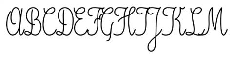 Magellan Script Font UPPERCASE