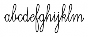 Magellan Script Font LOWERCASE