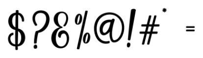 Magenta Script Regular Font OTHER CHARS