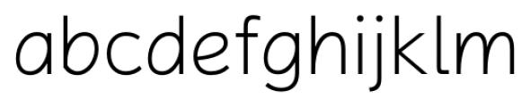 Magnum Sans Pro Alfa Ex Light Font LOWERCASE