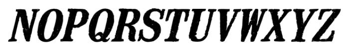 Mailart Rubberstamp Bold Italic Font UPPERCASE
