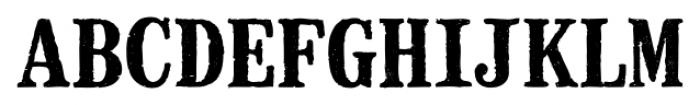 Mailart Rubberstamp Bold Font UPPERCASE