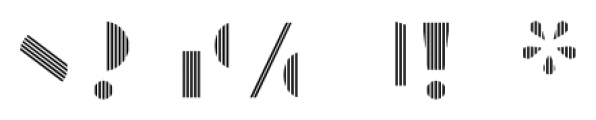Manbow Stripe Font OTHER CHARS