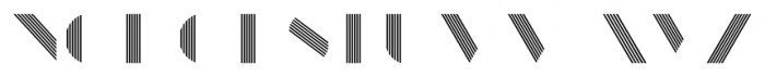 Manbow Stripe Font LOWERCASE