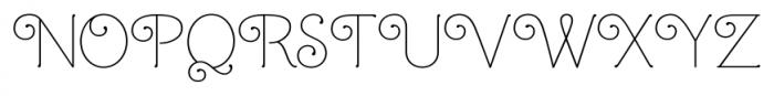 Mandevilla Regular Font UPPERCASE