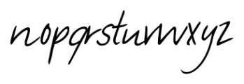 Manolo Handwriting Regular Font LOWERCASE