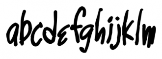 Marginal Notes SRF Regular Font LOWERCASE