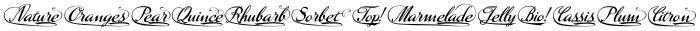 Marmelade Words English Font UPPERCASE
