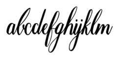 Marpesia Standard Regular Font LOWERCASE
