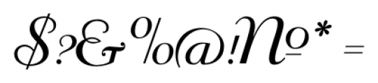Mayfair Regular Font OTHER CHARS