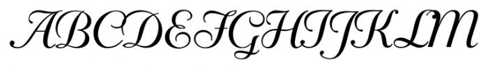 Mayfair Regular Font UPPERCASE