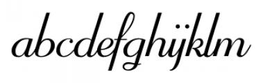 Mayfair Regular Font LOWERCASE