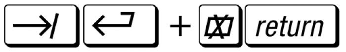 MacKeyCaps Font UPPERCASE