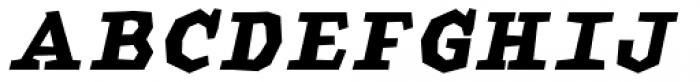 Macahe Condensed Black Italic Font UPPERCASE