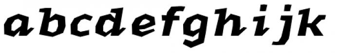 Macahe Condensed Black Italic Font LOWERCASE