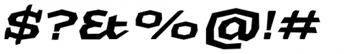 Macahe Expanded Black Italic Font OTHER CHARS