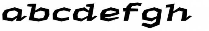 Macahe Expanded Black Italic Font LOWERCASE