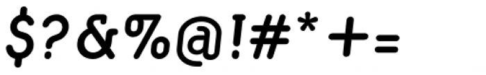 Macaroni Sans Demi Bold Italic Font OTHER CHARS