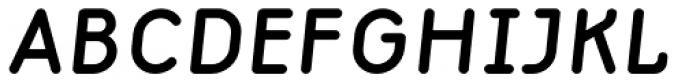 Macaroni Sans Demi Bold Italic Font UPPERCASE
