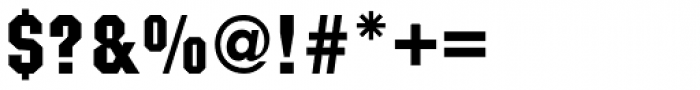Machine Medium Font OTHER CHARS