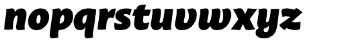 Macho Black Italic Font LOWERCASE