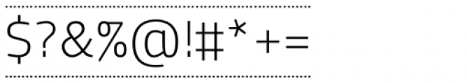 Macho Box Dash Thin Font OTHER CHARS