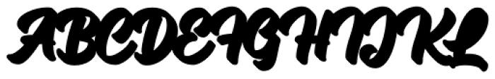 Mackless Script Extrude Font UPPERCASE