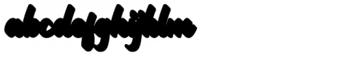 Mackless Script Extrude Font LOWERCASE
