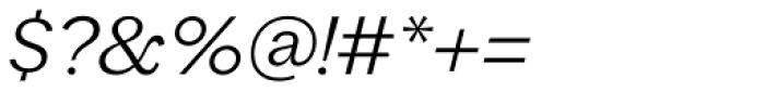 Macklin Slab Light Italic Font OTHER CHARS