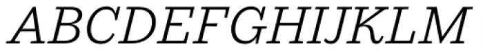 Macklin Slab Light Italic Font UPPERCASE