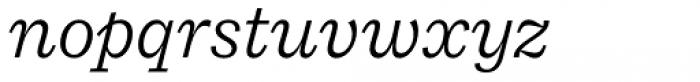 Macklin Slab Light Italic Font LOWERCASE