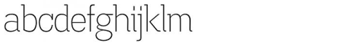 Madawaska ExtraLight Font LOWERCASE